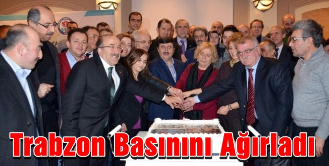 Başkan Gümrükçüoğlu Trabzon Basınını Ağırladı