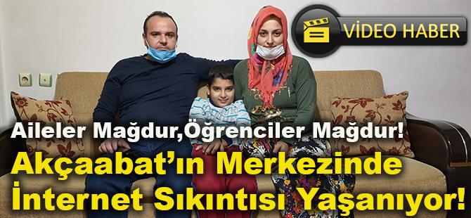 Aileler Mağdur,Öğrenciler Mağdur!Akçaabat'ın Merkezinde İnternet Sıkıntısı Yaşanıyor!
