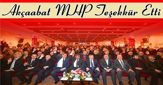 İlçe Başkanı Miraç Çınar Teşekkür  Etti.