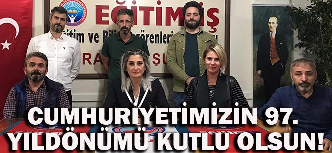Trabzon Eğitim İş,Cumhuriyet Bayramı Mesajı Yayınladı