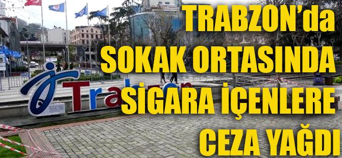 Trabzon'da Sokakta Sigara İçenlere Ceza