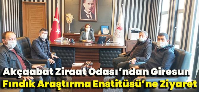 Akçaabat Ziraat Odası'ndan Giresun Fındık Araştırma Enstitüsü'ne Ziyaret