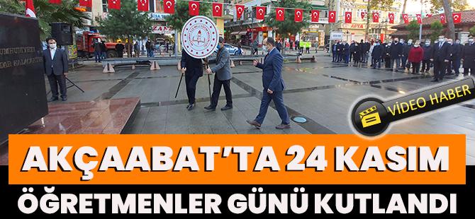 Akçaabat'ta 24 Kasım Öğretmenler Günü Kutlandı