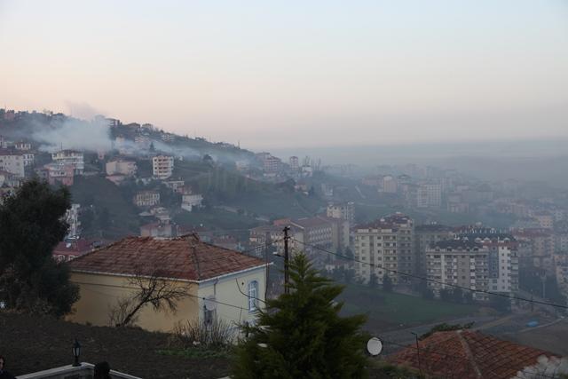Akçaabat'ta Hava Kirliliği Had Safhada
