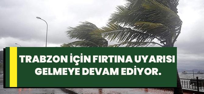 Trabzon İçin Fırtına Uyarısı Gelmeye Devam Ediyor.