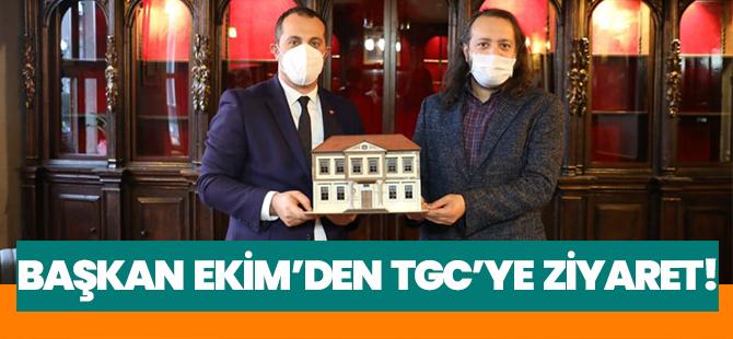 Başkan Ekim'den Trabzon Gazeteciler Cemiyeti'ne Ziyaret!
