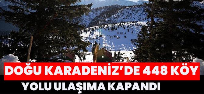Doğu Karadeniz'de 448 Köy Yolu Ulaşıma Kapandı
