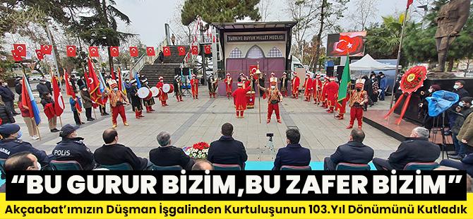 Akçaabat'ın Düşman İşgalinden Kurtuluşunun 103. Yıldönümü Törenle Kutlandı