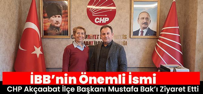 Şirin Mine Kılıç CHP Akçaabat İlçe Başkanı Mustafa Bak'ı Makamında Ziyaret Etti