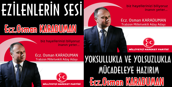 MHP Trabzon Milletvekili Aday Adayı