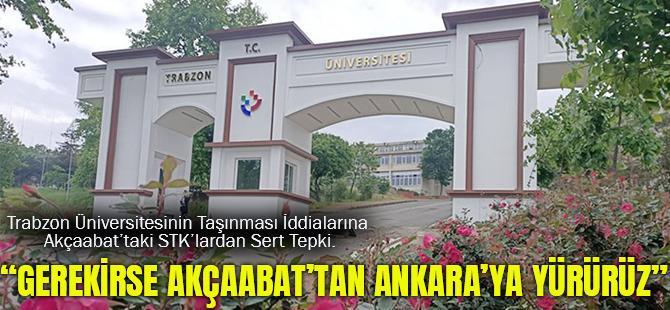 Trabzon Üniversitesinin Taşınması İddialarına Akçaabat'taki STK'lardan Sert Tepki