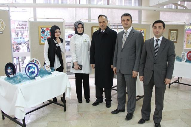 Trabzon Meslek Yüksekokulu Sergi Düzenledi.