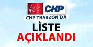 İşte CHP Trabzon Milletvekili Adayları;
