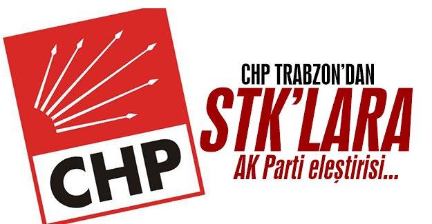 Trabzon Chp Ak Parti'yi Eleştirdi