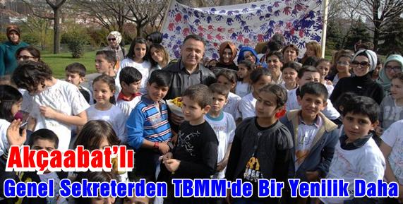İrfan Neziroğlu Şimdi de Meclis'i Çocuklara Açtı.