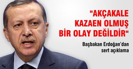 Başbakan Erdoğan'dan Sert Açıklama !