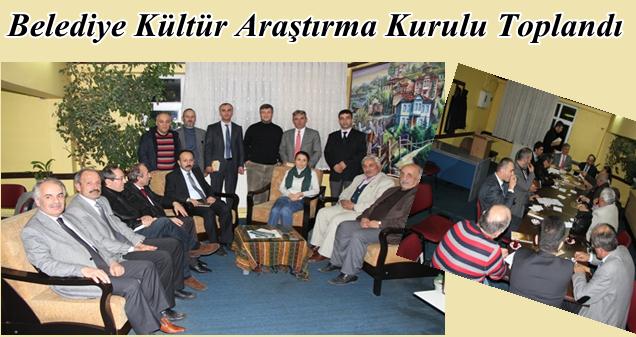 Belediye kültür araştırma kurulu toplandı