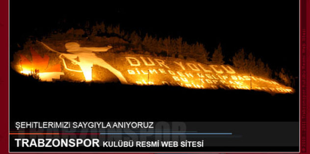 Trabzonspor  Çanakkale Zaferi'ni Mesajla Kutladı.