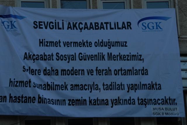 SGK Akçaabat'ın Yeni Yeri Bundan Böyle Eski Hastane Binası.