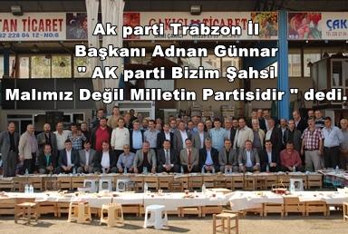 AK parti Bizim Şahsi Malımız Değil Milletin Partisidir.
