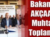 İçişleri Bakanı Süleyman Soylu, Trabzon'un Batı İlçelerinin Muhtarlarıyla Akçaabat'ta Buluştu.
