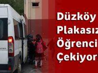 Düzköy'de Plakasız Araç Öğrenci Servisi Çekiyor!