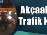 Akşam Saatinde Akçaabat'ta Trafik Kazası Meydana Geldi