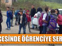 Düzköy İlçesinde Öğrenciye Servis Engeli