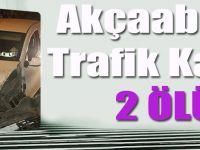 Akçaabat'ta Trafik Kazası: 2 Ölü