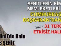 Hakkari Şemdinli'de Hain Saldırı! 8 Şehit