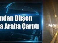 Arsin'de Feci Olay! Kaldırımdan Düşen Vatandaşa Araba Çarptı