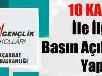CHP Akçaabat İlçe Gençlik Kollarından 10 Kasım Basın Açıklaması