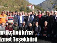 Başkan Gümrükçüoğlu'na Yomra'da Hizmet Teşekkürü