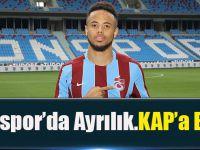 Trabzonspor'da Ayrılık! KAP'a Bildirildi.