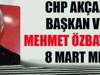 CHP Akçaabat İlçe Başkan Vekili Mehmet Özbayrak Kadınlar Gününü Kutladı