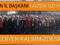 """CHP Trabzon İl Başkanı Güzide Uzun """"Ebediyen Kalbimizdesiniz"""""""