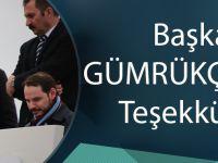 Başkan Gümrükçüoğlu Teşekkür Etti.