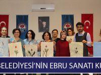 Büyükşehir'in İlk Kez Düzenlediği Ebru Sanatı Kursu Başladı