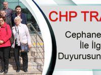 CHP Trabzon,Cephanelik İnşaatı İçin Suç Duyurusunda Bulundu
