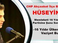 CHP Akçaabat İlçe Başkan Yardımcısı Hüseyin Çevik,Memleketi 16 Yıldır...