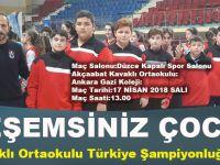 Akçaabat Kavaklı Ortaokulu Türkiye Finali Oynuyor..!