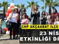 CHP Akçaabat İlçe Kadın Kollarından 23 Nisan Etkinliği
