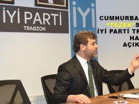 """Cumhurbaşkanı Erdoğan'ın """"Tezek"""" Sözleri Üzerine İYİ Parti Trabzon İl Başkanı Hasan Saka Açıklama Yaptı."""