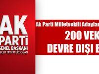 AK Parti Milletvekili Adayları Listesinde Erdoğan, 200 Vekili Liste Dışında Bıraktı