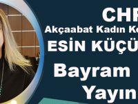CHP Akçaabat Kadın Kolları Başkanı Esin Küçükaslan, Bayram Mesajı Yayımladı