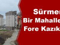 Sürmene'de Bir Mahalleye Daha Fore Kazıklı Önlem