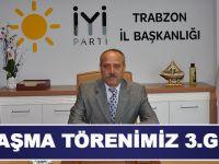 İYİ Parti Trabzon Teşkilatında Bayramlaşma Programı Yapılacak