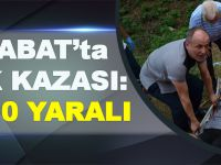 Akçaabat'ta Karşı Şerite Geçen Otomobil İkiye Bölündü: 1 Ölü, 10 Yaralı