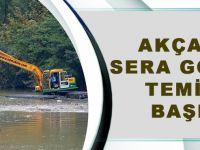 Akçaabat Sera Gölü'nde Temizlik Başladı