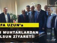 Mustafa Uzun'a Akçaabatlı Muhtarlardan Hayırlı Olsun Ziyareti!
